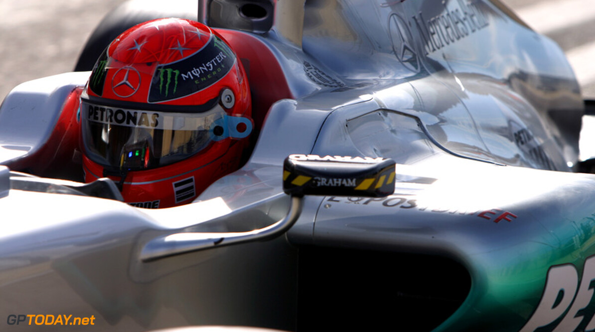 """Schumacher over de banden: """"Leek soms wel of ik op ijs reed"""""""
