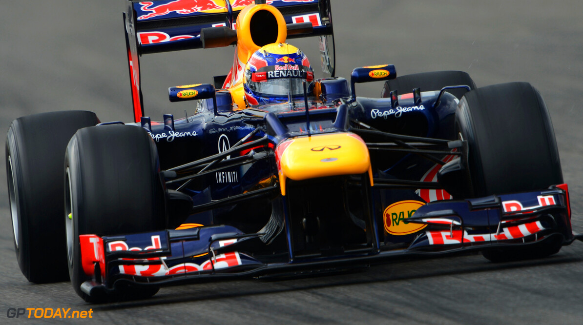 141017773KR00047_F1_Grand_P HOCKENHEIM, GERMANY - JULY 20:  Mark Webber of Australia and Red Bull Racing drives during practice for the German Grand Prix at Hockenheimring on July 20, 2012 in Hockenheim, Germany.  (Photo by Lars Baron/Getty Images) *** Local Caption *** Mark Webber F1 Grand Prix of Germany - Practice Lars Baron Hockenheim Germany  Formula One Racing