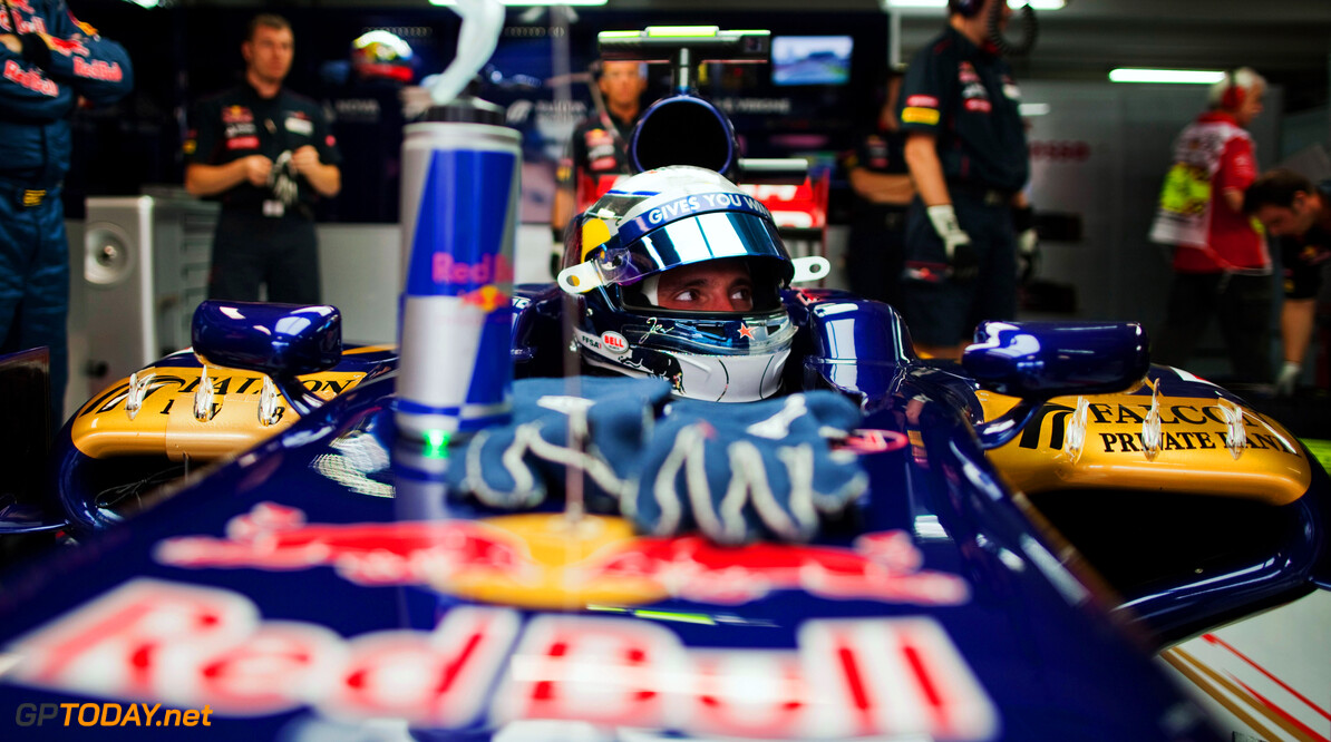 141017773KR00106_F1_Grand_P HOCKENHEIM, GERMANY - JULY 20:  Jean-Eric Vergne of France and Scuderia Toro Rosso prepares to drive during practice for the German Grand Prix at Hockenheimring on July 20, 2012 in Hockenheim, Germany.  (Photo by Peter Fox/Getty Images) *** Local Caption *** Jean-Eric Vergne F1 Grand Prix of Germany - Practice Peter Fox Hockenheim Germany  Formula One Racing