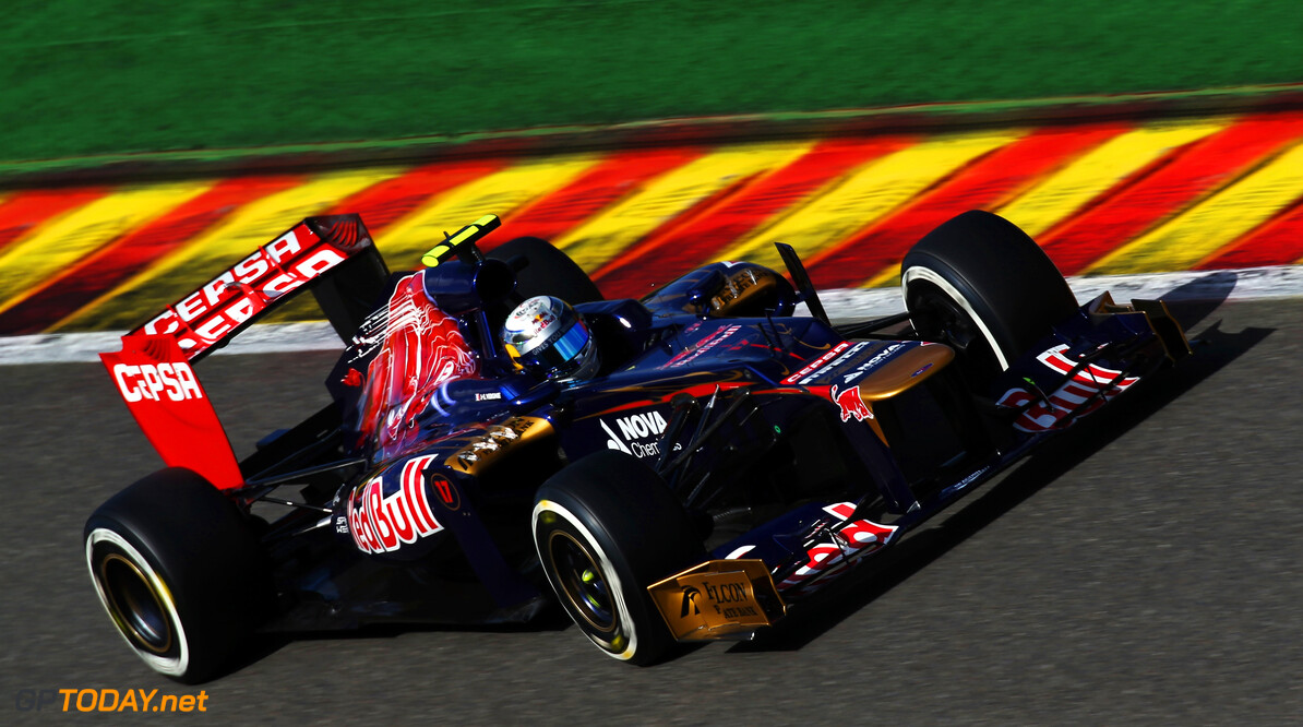 141017906KR00078_F1_Grand_P SPA FRANCORCHAMPS, BELGIUM - SEPTEMBER 01:  Jean-Eric Vergne of France and Scuderia Toro Rosso drives during qualifying for the Belgian Grand Prix at the Circuit of Spa Francorchamps on September 1, 2012 in Spa Francorchamps, Belgium.  (Photo by Mark Thompson/Getty Images) *** Local Caption *** Jean-Eric Vergne F1 Grand Prix of Belgium - Qualifying Mark Thompson Spa Francorchamps Belgium  Formula One Racing