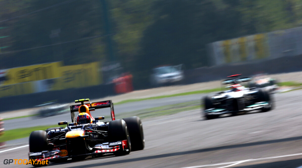 141017992KR00144_F1_Grand_P MONZA, ITALY - SEPTEMBER 09:  Mark Webber of Australia and Red Bull Racing drives during the Italian Formula One Grand Prix at the Autodromo Nazionale di Monza on September 9, 2012 in Monza, Italy.  (Photo by Andrew Hone/Getty Images) *** Local Caption *** Mark Webber F1 Grand Prix of Italy Andrew Hone Monza Italy  Formula One Racing
