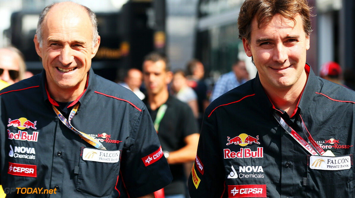 141017992KR00009_F1_Grand_P MONZA, ITALY - SEPTEMBER 09:  (L-R) Franz Tost the Scuderia Toro Rosso Team Principal and James Key the Scuderia Toro Rosso Technical Director walk in the paddock before the Italian Formula One Grand Prix at the Autodromo Nazionale di Monza on September 9, 2012 in Monza, Italy.  (Photo by Mark Thompson/Getty Images) *** Local Caption *** Franz Tost; James Key F1 Grand Prix of Italy Mark Thompson Monza Italy  Formula One Racing