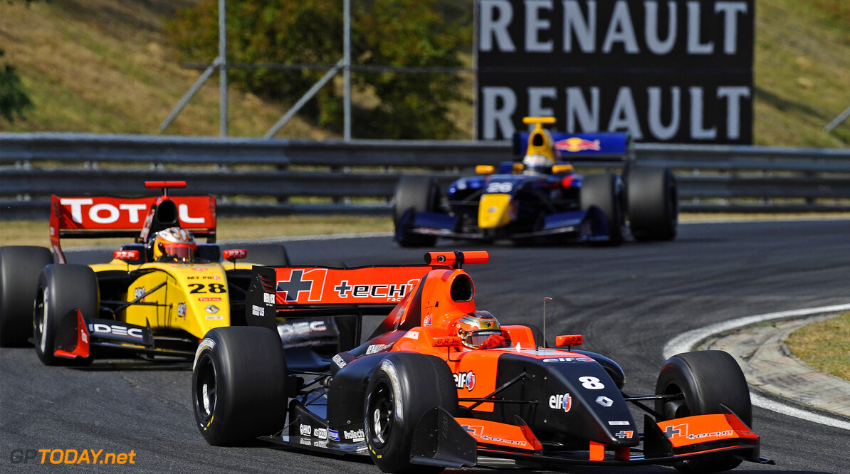 MOTORSPORT -  WORLD SERIES BY RENAULT 2012  - HUNGARORING - BUDAPEST (HON) - 15/09/2012 - PHOTO : GREGORY LENORMAND / DPPI - 08 JULES BIANCHI (FRA) - FORMULA RENAULT 3.5 SERIES - TECH 1 RACING - ACTION AUTO - WORLD SERIES BY RENAULT HUNGARORING 2012 GREGORY LENORMAND BUDAPEST HONGRIE  AUTO MOTORSPORT CAR VOITURES FORMULES SERIES SPORT WORLD WSR RENAULT SPORT EUROPE CHAMPIONNAT HONGRIE