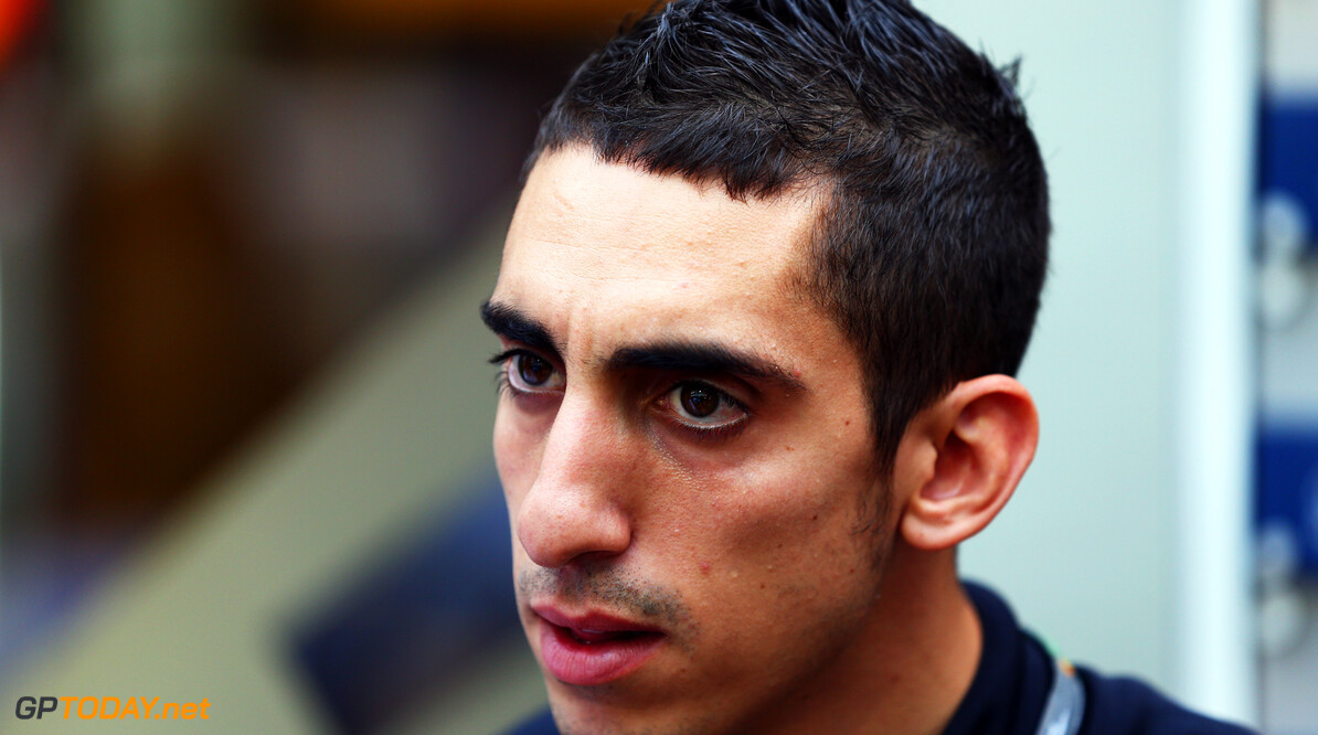 SINGAPORE - SEPTEMBER 23:  Red Bull Racing reserve driver Sebastien Buemi attends the Singapore Formula One Grand Prix at the Marina Bay Street Circuit on September 23, 2012 in Singapore, Singapore.  (Photo by Clive Mason/Getty Images) *** Local Caption *** Sebastien Buemi F1 Grand Prix of Singapore Clive Mason Singapore Singapore  Formula One Racing
