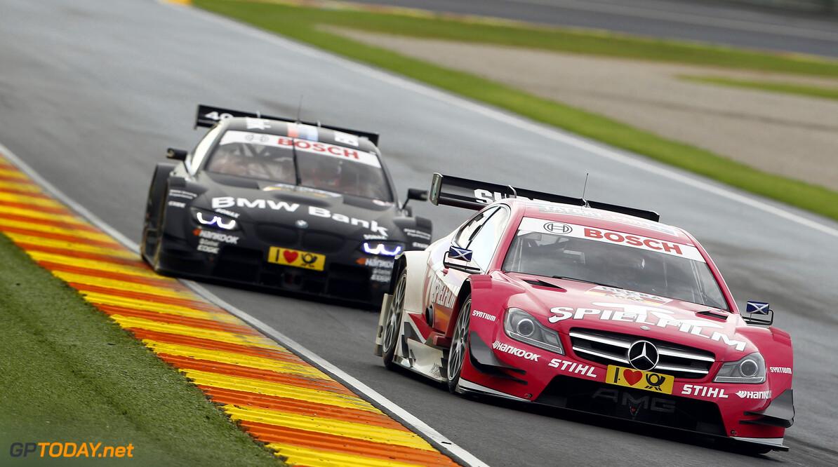 #24, Susie Wolff (Persson Motorsport, TV Spielfilm Mercedes AMG C-Coupe (2012)), #7, Bruno Spengler (BMW Team Schnitzer, BMW Bank M3 DTM (2012))