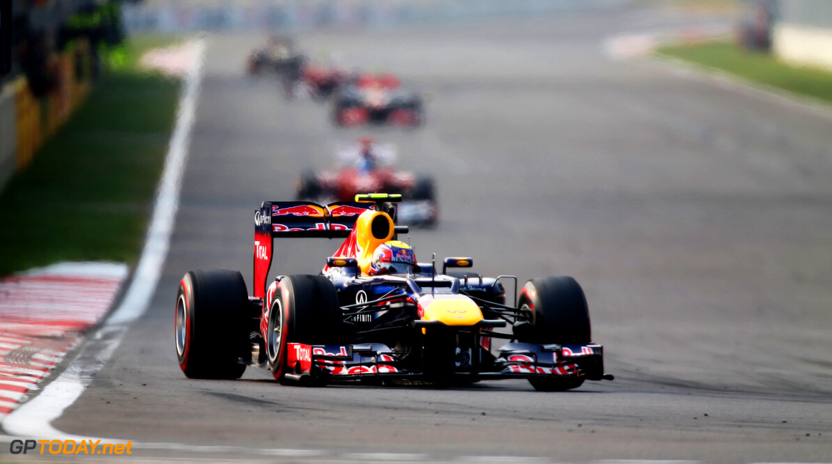 141020561KR00224_F1_Grand_P YEONGAM-GUN, SOUTH KOREA - OCTOBER 14:  Mark Webber of Australia and Red Bull Racing drives during the Korean Formula One Grand Prix at the Korea International Circuit on October 14, 2012 in Yeongam-gun, South Korea.  (Photo by Mark Thompson/Getty Images) *** Local Caption *** Mark Webber F1 Grand Prix of Korea Mark Thompson Yeongam-gun South Korea  Formula One Racing