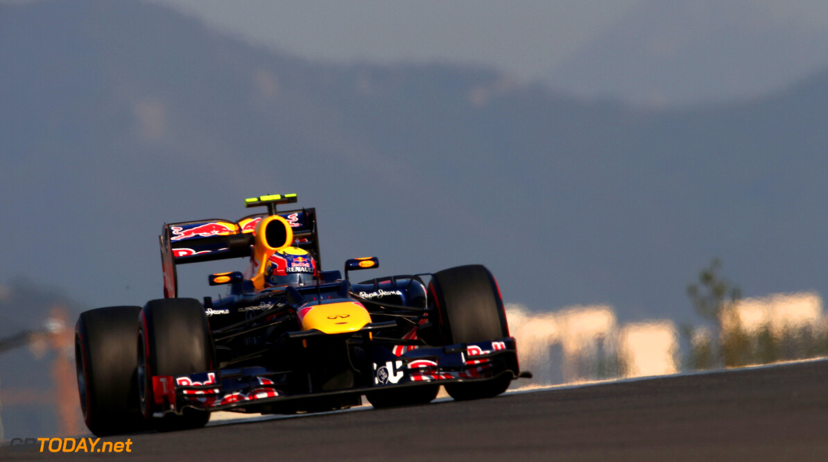 141020542KR00184_F1_Grand_P YEONGAM-GUN, SOUTH KOREA - OCTOBER 12:  Mark Webber of Australia and Red Bull Racing drives during practice for the Korean Formula One Grand Prix at the Korea International Circuit on October 11, 2012 in Yeongam-gun, South Korea.  (Photo by Clive Mason/Getty Images) *** Local Caption *** Mark Webber F1 Grand Prix of Korea - Practice Clive Mason Yeongam-gun South Korea  Formula One Racing