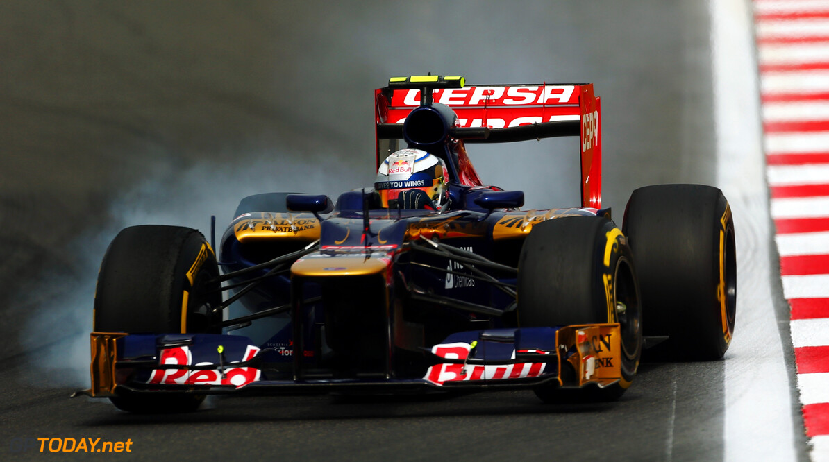 141020555KR00111_F1_Grand_P YEONGAM-GUN, SOUTH KOREA - OCTOBER 13:  Jean-Eric Vergne of France and Scuderia Toro Rosso drives during final practice prior to qualifying for the Korean Formula One Grand Prix at the Korea International Circuit on October 13, 2012 in Yeongam-gun, South Korea.  (Photo by Clive Rose/Getty Images) *** Local Caption *** Jean-Eric Vergne F1 Grand Prix of Korea - Qualifying Clive Rose Yeongam-gun South Korea  Formula One Racing