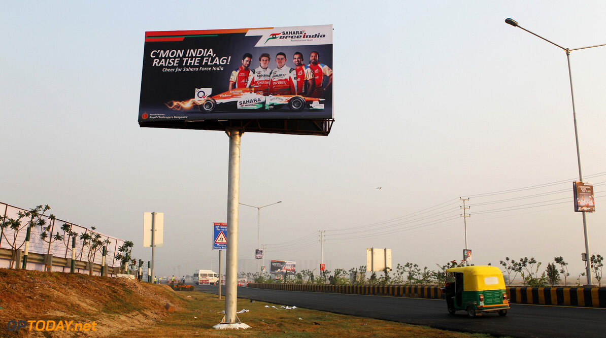 Formula One World Championship A Sahara Force India F1 Team billboard.