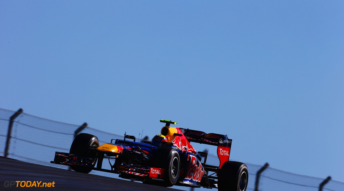 141020909KR00246_F1_Grand_P AUSTIN, TX - NOVEMBER 18:  Mark Webber of Australia and Red Bull Racing drives during the United States Formula One Grand Prix at the Circuit of the Americas on November 18, 2012 in Austin, Texas.  (Photo by Paul Gilham/Getty Images) *** Local Caption *** Mark Webber F1 Grand Prix of USA Paul Gilham Austin United States  Formula One Racing