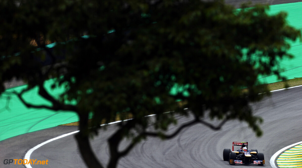 141020816KR00081_F1_Grand_P SAO PAULO, BRAZIL - NOVEMBER 24:  Jean-Eric Vergne of France and Scuderia Toro Rosso drives during the final practice session prior to qualifying for the Brazilian Formula One Grand Prix at the Autodromo Jose Carlos Pace on November 24, 2012 in Sao Paulo, Brazil.  (Photo by Mark Thompson/Getty Images) *** Local Caption *** Jean-Eric Vergne F1 Grand Prix of Brazil - Qualifying Mark Thompson Sao Paulo Brazil  Formula One Racing