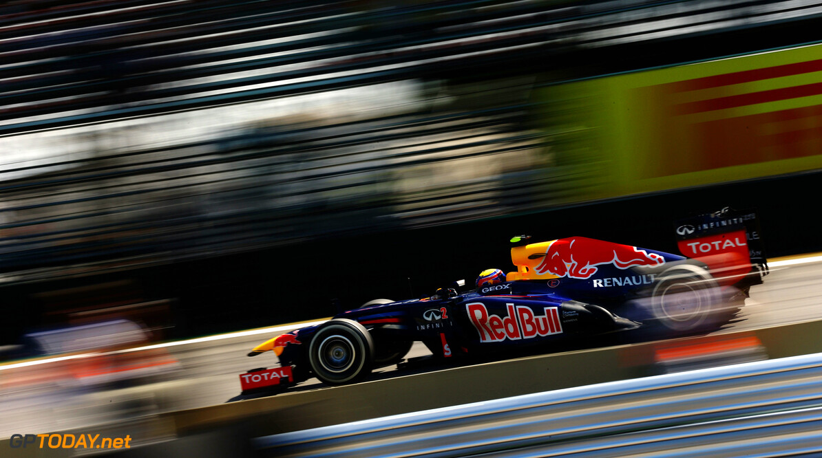 141020805KR00285_F1_Grand_P SAO PAULO, BRAZIL - NOVEMBER 23:  Mark Webber of Australia and Red Bull Racing drives during practice for the Brazilian Formula One Grand Prix at the Autodromo Jose Carlos Pace on November 23, 2012 in Sao Paulo, Brazil.  (Photo by Paul Gilham/Getty Images) *** Local Caption *** Mark Webber F1 Grand Prix of Brazil - Practice Paul Gilham Sao Paulo Brazil  Formula One Racing