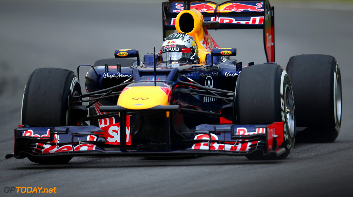 141020816KR00060_F1_Grand_P SAO PAULO, BRAZIL - NOVEMBER 24:  Sebastian Vettel of Germany and Red Bull Racing drives during the final practice session prior to qualifying for the Brazilian Formula One Grand Prix at the Autodromo Jose Carlos Pace on November 24, 2012 in Sao Paulo, Brazil.  (Photo by Clive Mason/Getty Images) *** Local Caption *** Sebastian Vettel F1 Grand Prix of Brazil - Qualifying Clive Mason Sao Paulo Brazil  Formula One Racing