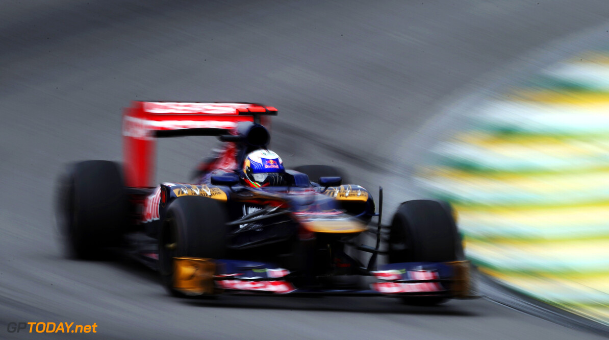 141020816KR00078_F1_Grand_P SAO PAULO, BRAZIL - NOVEMBER 24:  Daniel Ricciardo of Australia and Scuderia Toro Rosso drives during the final practice session prior to qualifying for the Brazilian Formula One Grand Prix at the Autodromo Jose Carlos Pace on November 24, 2012 in Sao Paulo, Brazil.  (Photo by Mark Thompson/Getty Images) *** Local Caption *** Daniel Ricciardo F1 Grand Prix of Brazil - Qualifying Mark Thompson Sao Paulo Brazil  Formula One Racing