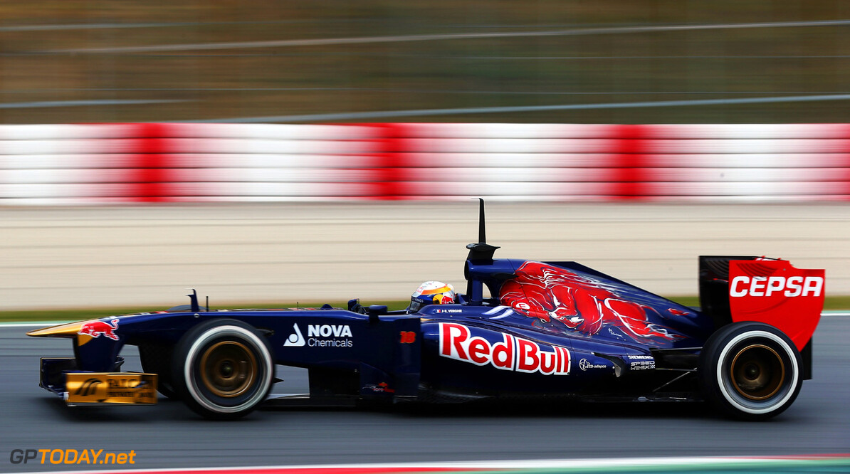 160867076KR00054_F1_Testing MONTMELO, SPAIN - FEBRUARY 21:  Jean-Eric Vergne of France and Scuderia Toro Rosso drives during day three of Formula One winter test at the Circuit de Catalunya on February 21, 2013 in Montmelo, Spain.  (Photo by Paul Gilham/Getty Images) *** Local Caption *** Jean-Eric Vergne F1 Testing in Barcelona - Day Three Paul Gilham Montmelo Spain  Formula One Racing Barcelona