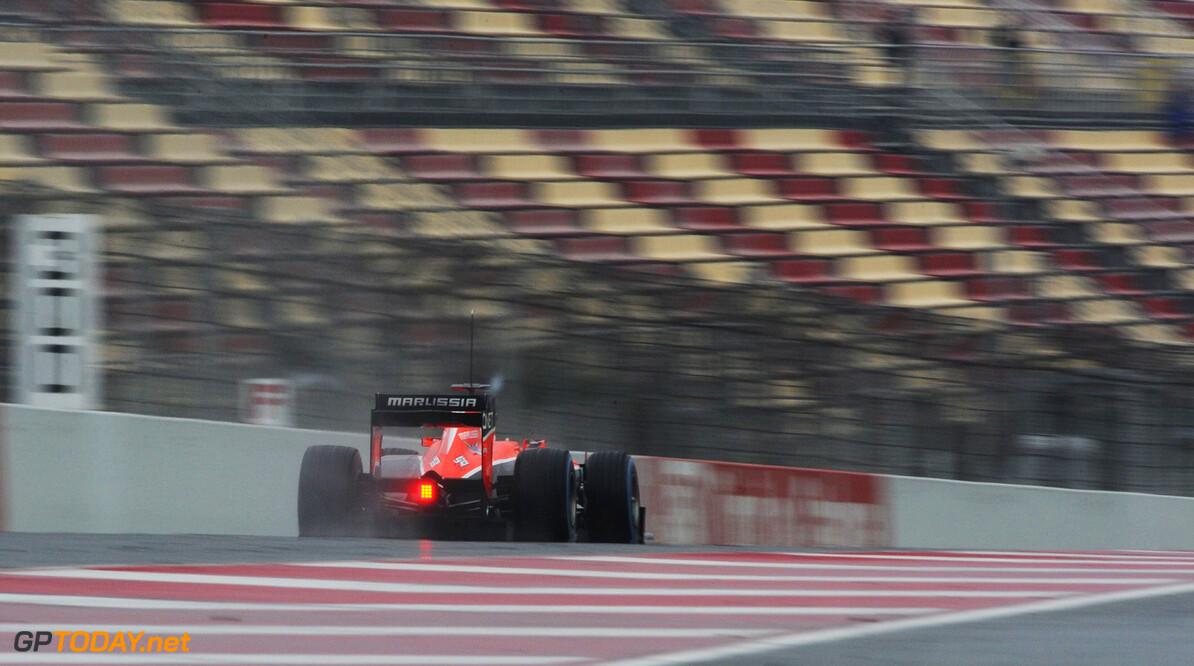 Formula One Testing Max Chilton (GBR) Marussia F1 Team MR02.  22.02.2013. Formula One Testing, Day Four, Barcelona, Spain. Motor Racing - Formula One Testing - Test Two - Day 4 -  Barcelona, Spain Marussia F1 Team Barcelona Spain  Formel1 Formel F1 Formula 1 Formula1 one February Friday Spain 22 02 2 2013 Barcelona Catalunya Action Track