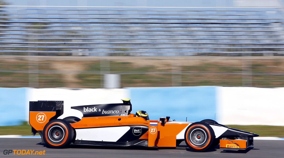 2013 GP2 Series Testing. Jerez, Spain.  Day 2. Wednesday 27th February 2013. Daniel de Jong (NED, MP Motorsport). Action.  Photo: Alastair Staley/GP2 Series Media Service ref: _R6T6551