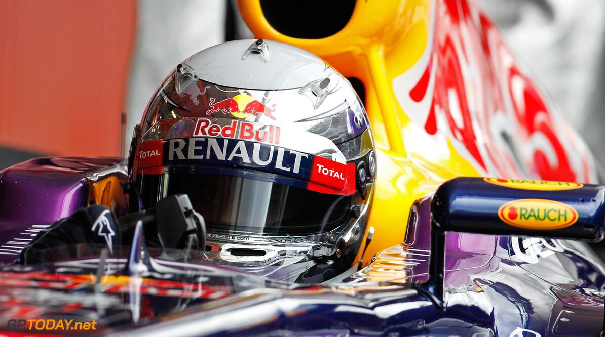 Vettel ook in tombola in de regen naar pole position