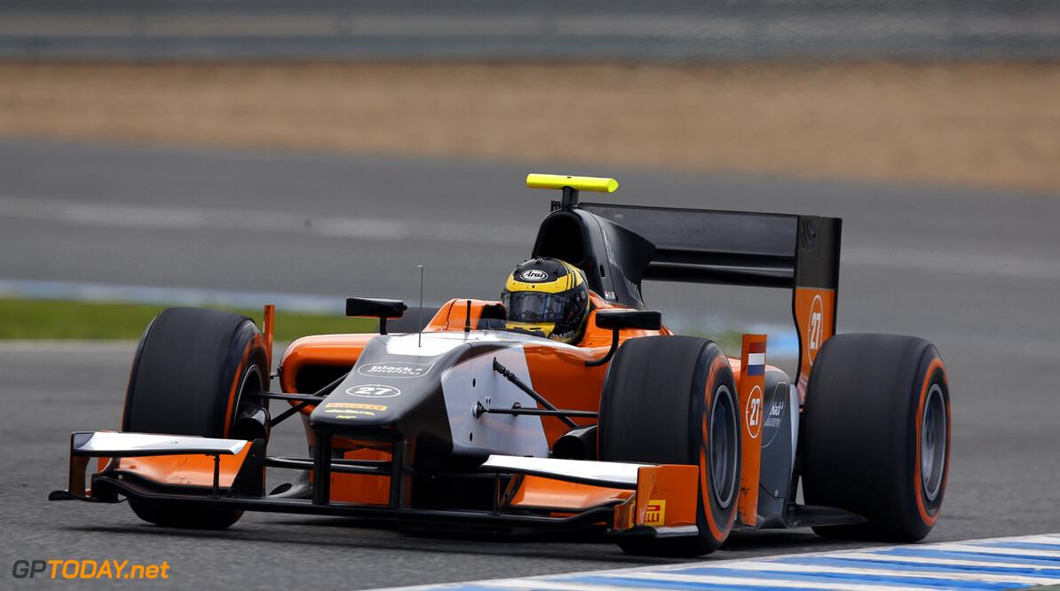 2013 GP2 Series Testing. Jerez, Spain.  Day 3. Thursday 28th February 2013. Daniel de Jong (NED, MP Motorsport). Action.  Photo: Alastair Staley/GP2 Series Media Service ref: _R6T8793