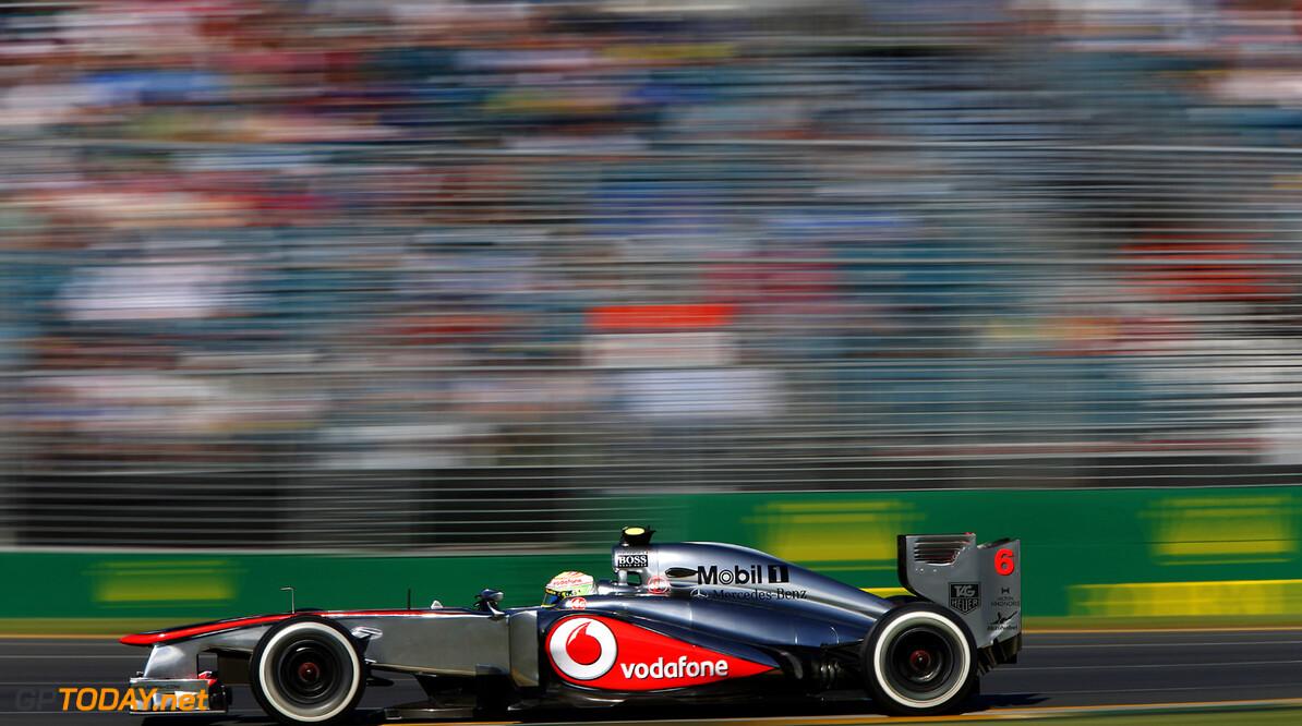 Sergio Perez in action
