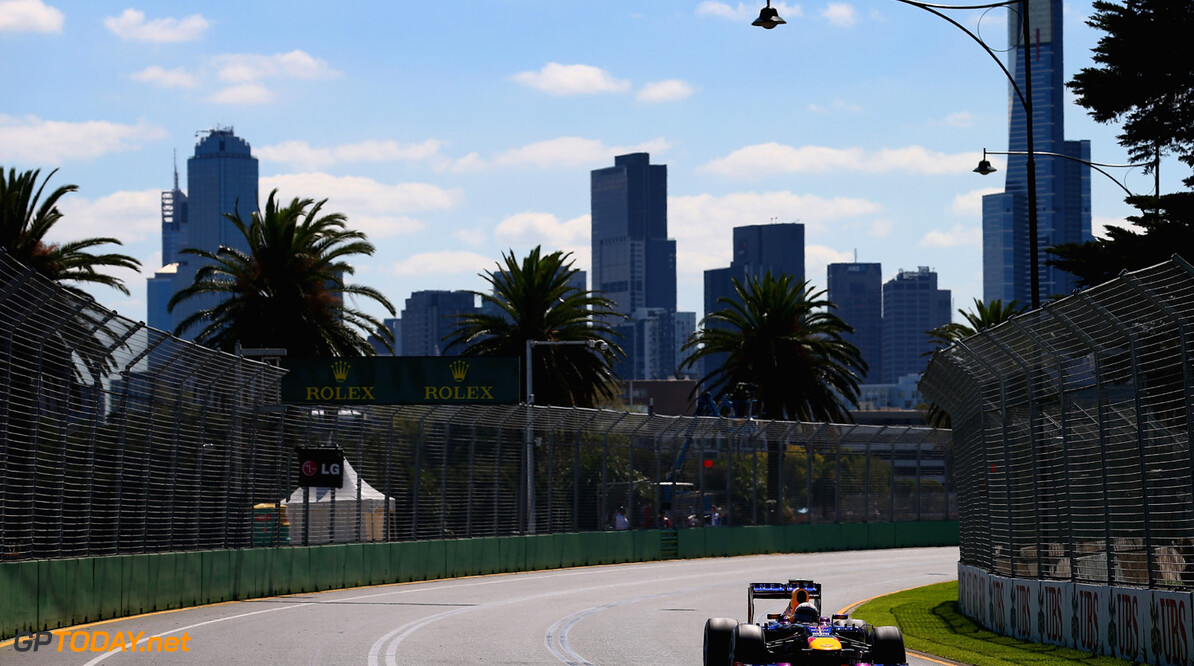 163375443KR00055_Australian MELBOURNE, AUSTRALIA - MARCH 15:  Sebastian Vettel of Germany and Infiniti Red Bull Racing drives during practice for the Australian Formula One Grand Prix at the Albert Park Circuit on March 15, 2013 in Melbourne, Australia.  (Photo by Clive Mason/Getty Images) *** Local Caption *** Sebastian Vettel Australian F1 Grand Prix - Practice Clive Mason Melbourne Australia  Formula One Racing formula 1 Auto Racing Formula 1 Australian Grand Prix Australian Formula One Grand Pr Formula One Grand Prix Australia F1 Grand Prix