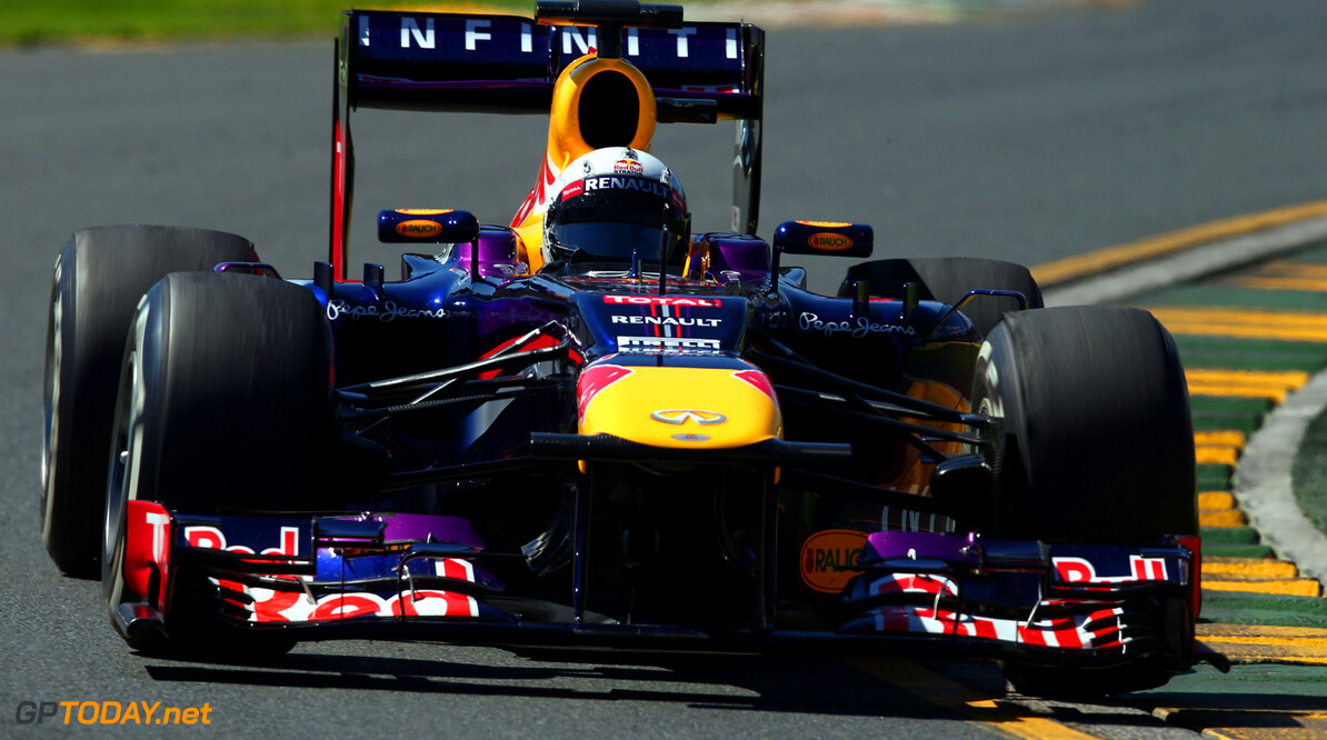 163375443KR00043_Australian MELBOURNE, AUSTRALIA - MARCH 15:  Sebastian Vettel of Germany and Infiniti Red Bull Racing drives during practice for the Australian Formula One Grand Prix at the Albert Park Circuit on March 15, 2013 in Melbourne, Australia.  (Photo by Clive Mason/Getty Images) *** Local Caption *** Sebastian Vettel Australian F1 Grand Prix - Practice Clive Mason Melbourne Australia  Formula One Racing formula 1 Auto Racing Formula 1 Australian Grand Prix Australian Formula One Grand Pr Formula One Grand Prix Australia F1 Grand Prix