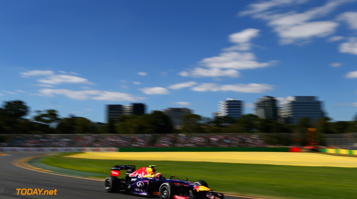 163375443KR00047_Australian MELBOURNE, AUSTRALIA - MARCH 15:  Mark Webber of Australia and Infiniti Red Bull Racing drives during practice for the Australian Formula One Grand Prix at the Albert Park Circuit on March 15, 2013 in Melbourne, Australia.  (Photo by Clive Mason/Getty Images) *** Local Caption *** Mark Webber Australian F1 Grand Prix - Practice Clive Mason Melbourne Australia  Formula One Racing formula 1 Auto Racing Formula 1 Australian Grand Prix Australian Formula One Grand Pr Formula One Grand Prix Australia F1 Grand Prix SHELLGP SHELL GP