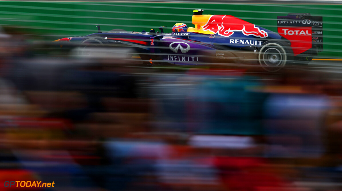 163375451KR00124_Australian MELBOURNE, AUSTRALIA - MARCH 17:  Mark Webber of Australia and Infiniti Red Bull Racing drives during the Australian Formula One Grand Prix at the Albert Park Circuit on March 17, 2013 in Melbourne, Australia.  (Photo by Clive Mason/Getty Images) *** Local Caption *** Mark Webber Australian F1 Grand Prix - Race Clive Mason Melbourne Australia  Formula One Racing formula 1 Auto Racing Formula 1 Australian Grand Prix Australian Formula One Grand Pr Formula One Grand Prix Australia F1 Grand Prix