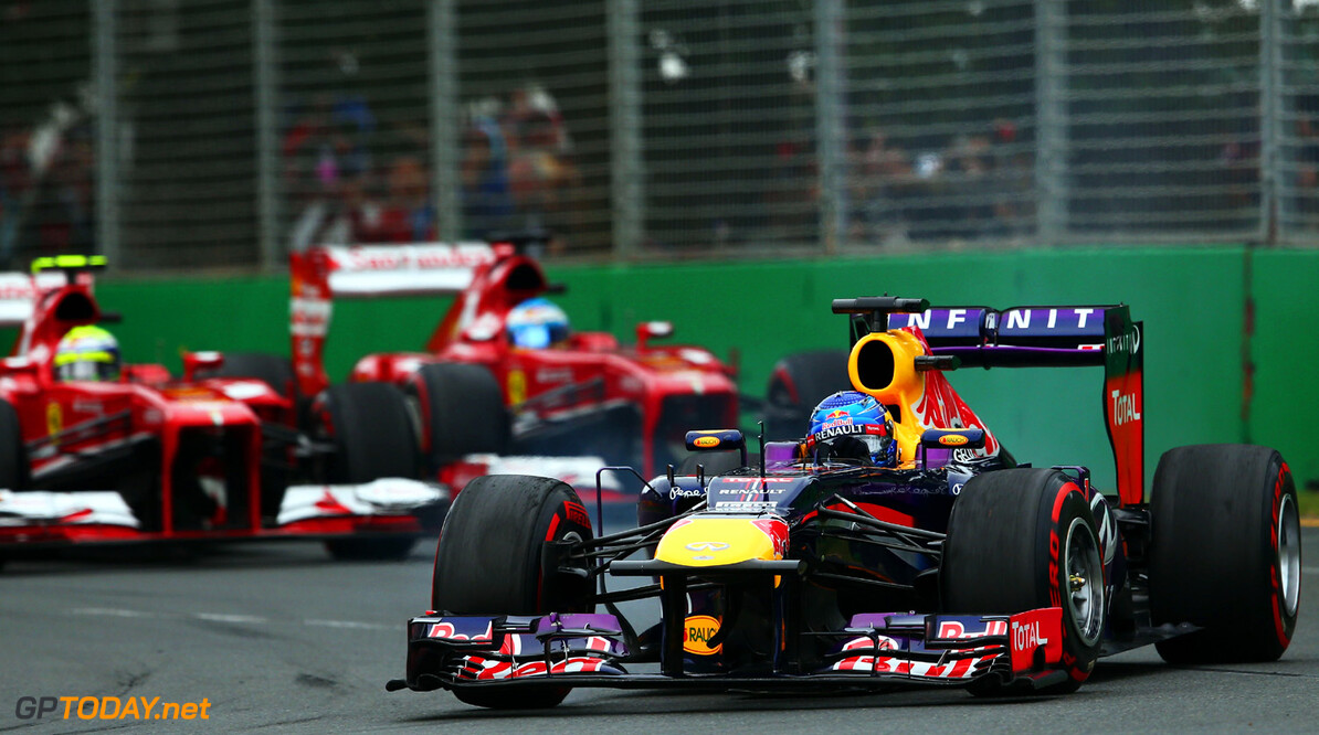 163375451KR00122_Australian MELBOURNE, AUSTRALIA - MARCH 17:  Sebastian Vettel of Germany and Infiniti Red Bull Racing drives during the Australian Formula One Grand Prix at the Albert Park Circuit on March 17, 2013 in Melbourne, Australia.  (Photo by Robert Cianflone/Getty Images) *** Local Caption *** Sebastian Vettel Australian F1 Grand Prix - Race Robert Cianflone Melbourne Australia  Formula One Racing formula 1 Auto Racing Formula 1 Australian Grand Prix Australian Formula One Grand Pr Formula One Grand Prix Australia F1 Grand Prix