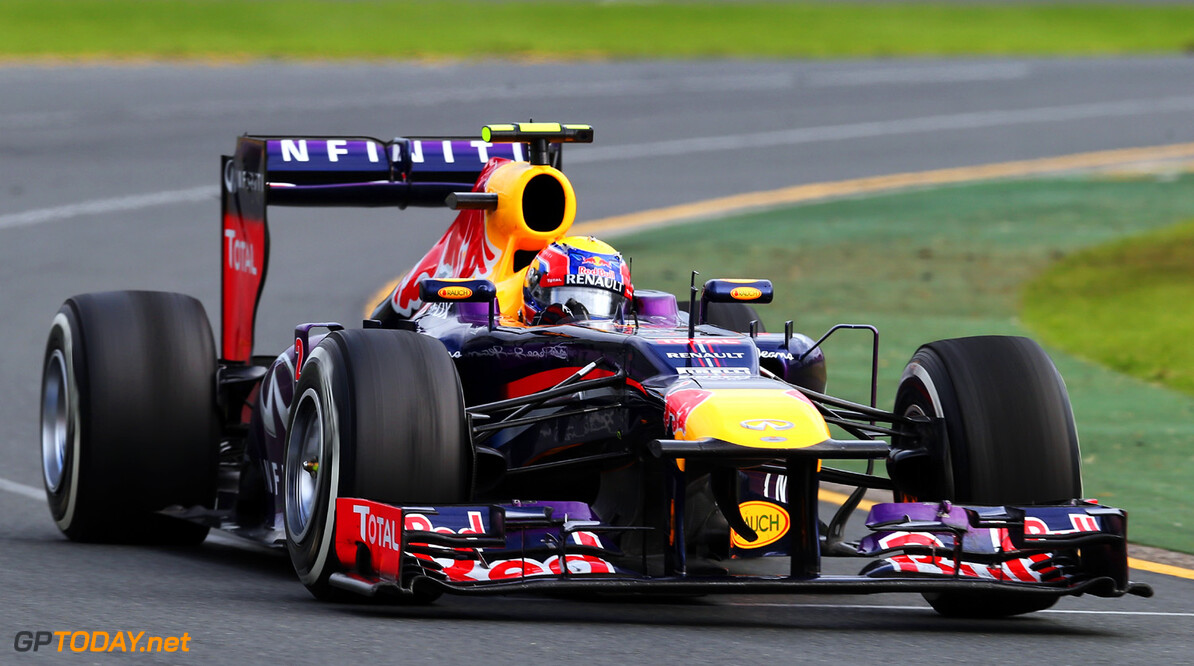 163375451KR00231_Australian MELBOURNE, AUSTRALIA - MARCH 17:  Mark Webber of Australia and Infiniti Red Bull Racing drives during the Australian Formula One Grand Prix at the Albert Park Circuit on March 17, 2013 in Melbourne, Australia.  (Photo by Mark Thompson/Getty Images) *** Local Caption *** Mark Webber Australian F1 Grand Prix - Race Mark Thompson Melbourne Australia  Formula One Racing formula 1 Auto Racing Formula 1 Australian Grand Prix Australian Formula One Grand Pr Formula One Grand Prix Australia F1 Grand Prix