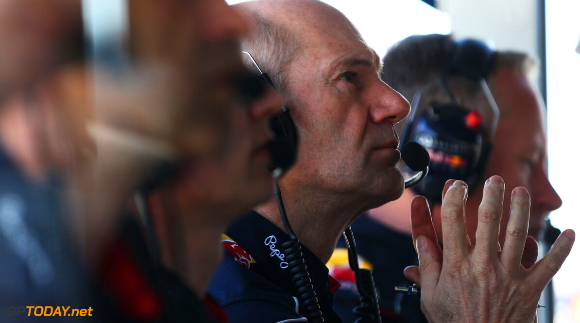 163375443KR00161_Australian MELBOURNE, AUSTRALIA - MARCH 15:  Red Bull Racing Chief Technical Officer Adrian Newey studies the laptimes on the pitwall during practice for the Australian Formula One Grand Prix at the Albert Park Circuit on March 15, 2013 in Melbourne, Australia.  (Photo by Robert Cianflone/Getty Images) *** Local Caption *** Adrian Newey Australian F1 Grand Prix - Practice Robert Cianflone Melbourne Australia  Formula One Racing formula 1 Auto Racing Formula 1 Australian Grand Prix Australian Formula One Grand Pr Formula One Grand Prix Australia F1 Grand Prix