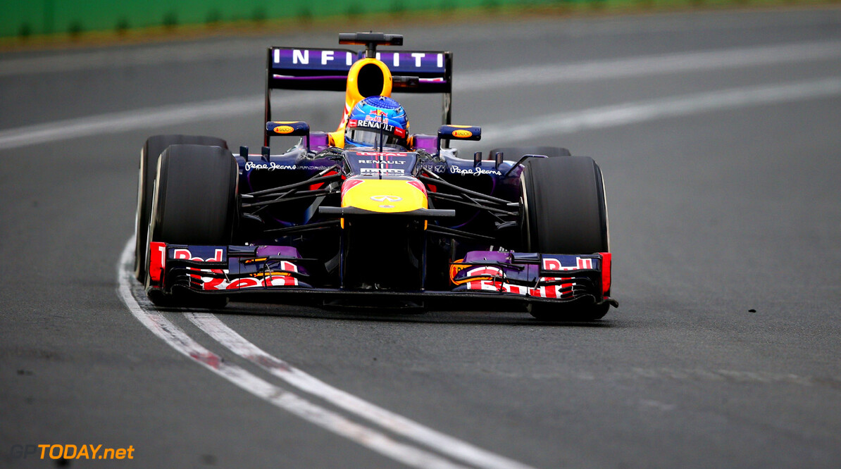 163375451KR00178_Australian MELBOURNE, AUSTRALIA - MARCH 17:  Sebastian Vettel of Germany and Infiniti Red Bull Racing drives during the Australian Formula One Grand Prix at the Albert Park Circuit on March 17, 2013 in Melbourne, Australia.  (Photo by Clive Mason/Getty Images) *** Local Caption *** Sebastian Vettel Australian F1 Grand Prix - Race Clive Mason Melbourne Australia  Formula One Racing formula 1 Auto Racing Formula 1 Australian Grand Prix Australian Formula One Grand Pr Formula One Grand Prix Australia F1 Grand Prix