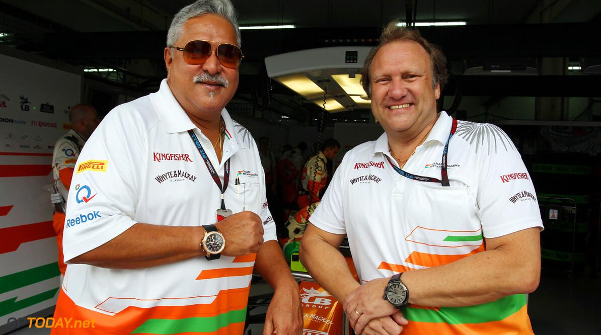 Mallya mikt op stapje hogerop met Force India in 2014
