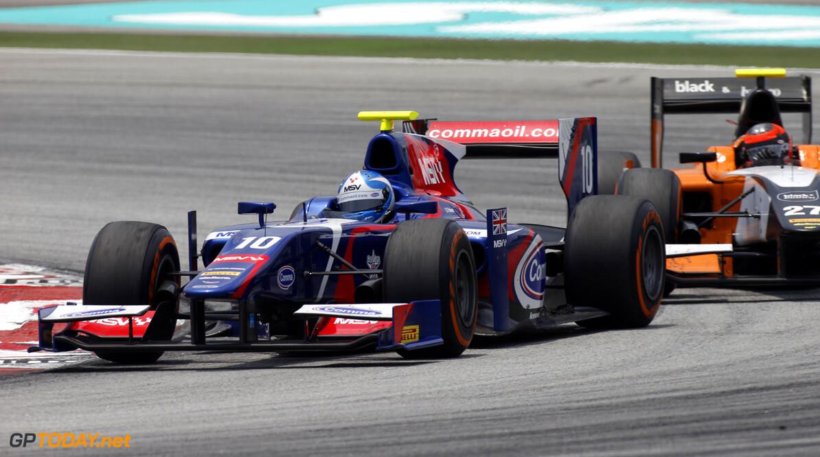 2013 GP2 Series. Round 1.  Sepang, Kuala Lumpur, Malaysia. 24th March 2013.  Sunday Race.  Jolyon Palmer (GBR, Carlin). Action.  World Copyright: Alastair Staley/GP2 Series Media Service.  ref: _89P0488