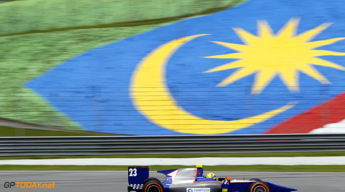 2013 GP2 Series. Round 1.  Sepang, Kuala Lumpur, Malaysia. 22nd March 2013.  Friday Practice.  Pal Varhaug (NOR, Hilmer Motorsport). Action.  World Copyright: Alastair Staley/GP2 Series Media Service.  ref: _A8C4997