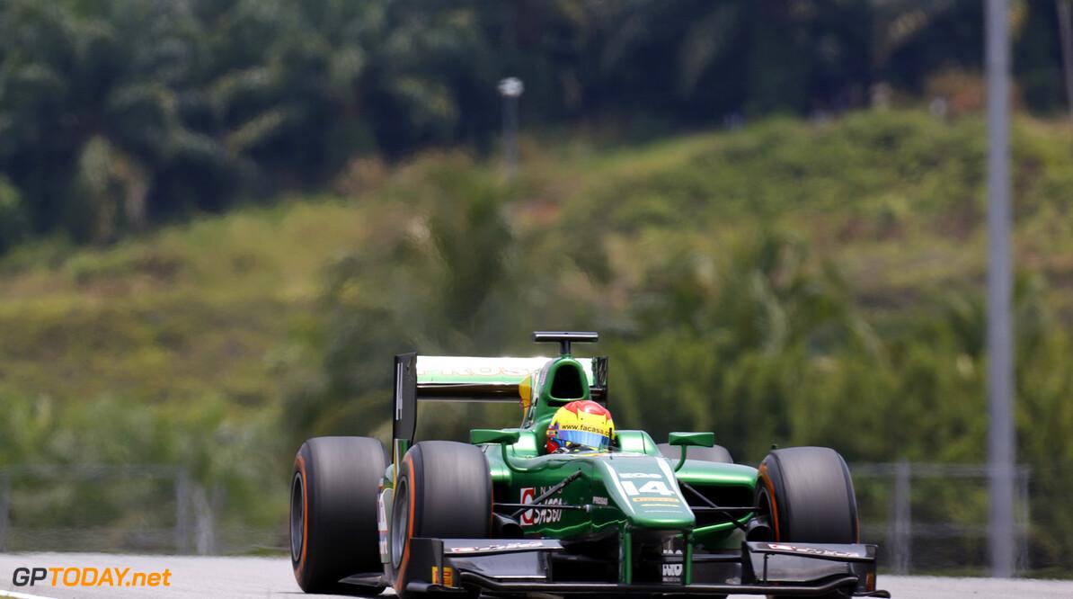 2013 GP2 Series. Round 1.  Sepang, Kuala Lumpur, Malaysia. 24th March 2013.  Sunday Race.  Sergio Canamasas (ESP, Caterham Racing). Action.  World Copyright: Alastair Staley/GP2 Series Media Service.  ref: _R6T2053