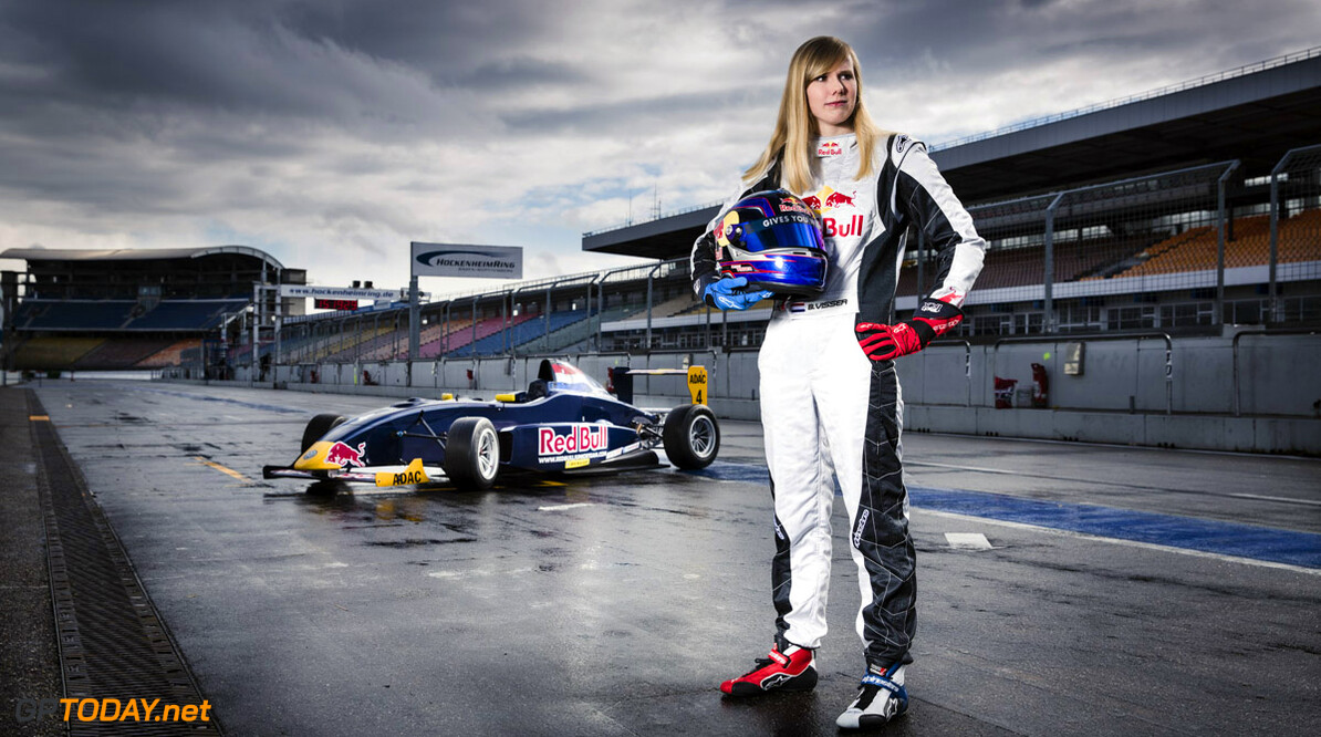 Beitske Visser poses for a portrait at Hockenheimring in Hockenheim, Germany on March 19th, 2013 // Tim Ludin / Red Bull Content Pool // P-20130327-00101 // Usage for editorial use only // Please go to www.redbullcontentpool.com for further information. //  Beitske Visser - Portrait  Hockenheim Germany  P-20130327-00101