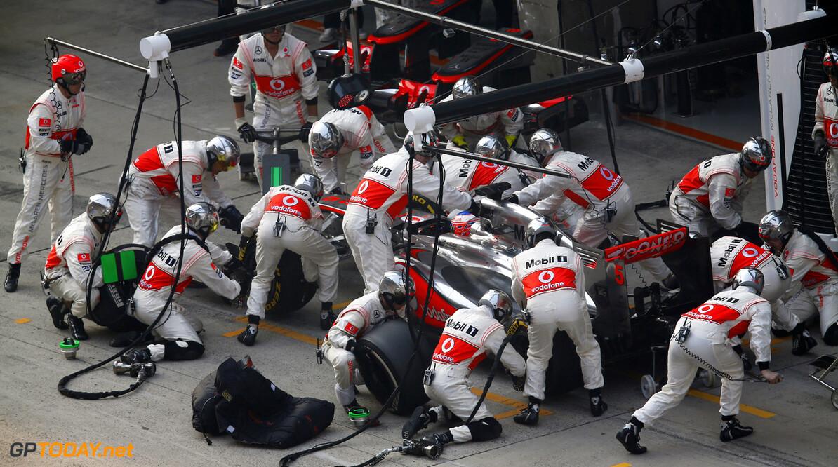 Jenson Button makes a pit stop  steven.tee@haymarket.com