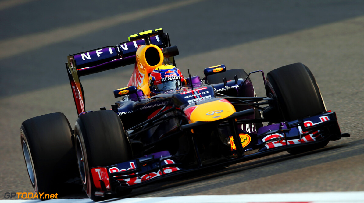 163375735KR00267_F1_Grand_P SHANGHAI, CHINA - APRIL 12:  Mark Webber of Australia and Infiniti Red Bull Racing drives during practice for the Chinese Formula One Grand Prix at the Shanghai International Circuit on April 12, 2013 in Shanghai, China.  (Photo by Mark Thompson/Getty Images) *** Local Caption *** Mark Webber F1 Grand Prix of China - Practice Mark Thompson Shanghai China  Formula One Racing formula 1 Auto Racing Formula 1 Grand Prix of China Chinese Formula One Grand Prix Formula One Grand Prix