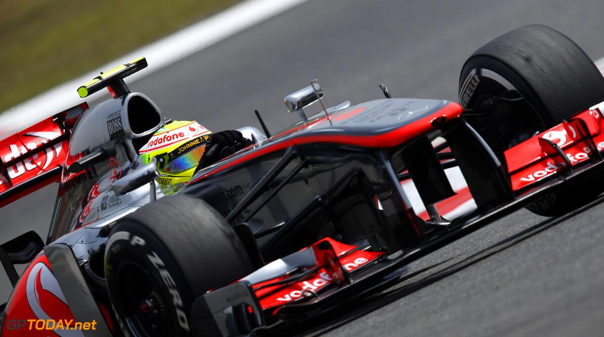Sergio Perez in action.