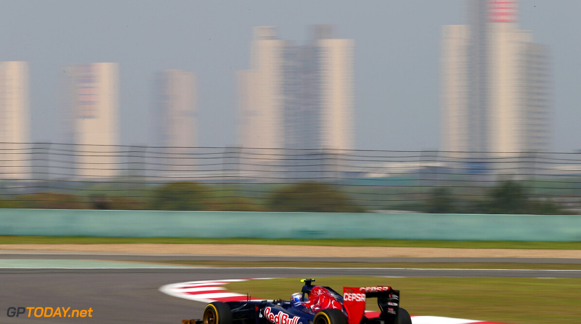 163375735KR00220_F1_Grand_P SHANGHAI, CHINA - APRIL 12:  Jean-Eric Vergne of France and Scuderia Toro Rosso drives during practice for the Chinese Formula One Grand Prix at the Shanghai International Circuit on April 12, 2013 in Shanghai, China.  (Photo by Clive Mason/Getty Images) *** Local Caption *** Jean-Eric Vergne F1 Grand Prix of China - Practice Clive Mason Shanghai China  Formula One Racing formula 1 Auto Racing Formula 1 Grand Prix of China Chinese Formula One Grand Prix Formula One Grand Prix