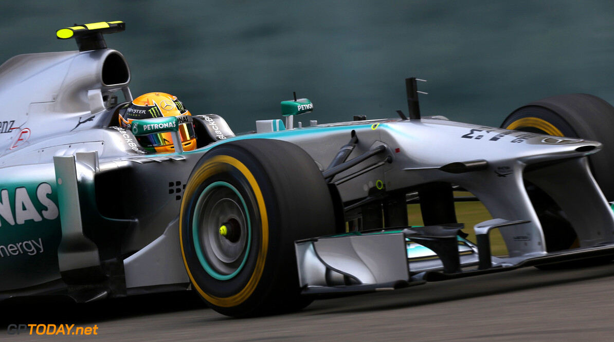 Hamilton downbeat after new Mercedes tyre struggles