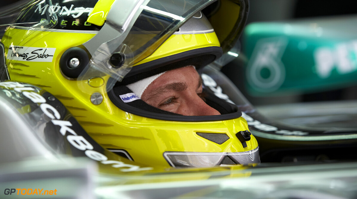 Rosberg endures scary moment with tyre blowout in testing