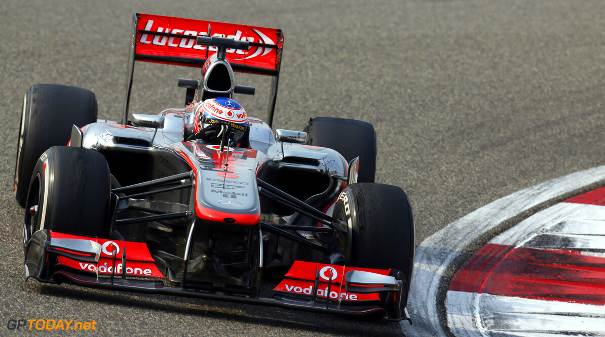 Jenson Button in action.  Al Staley