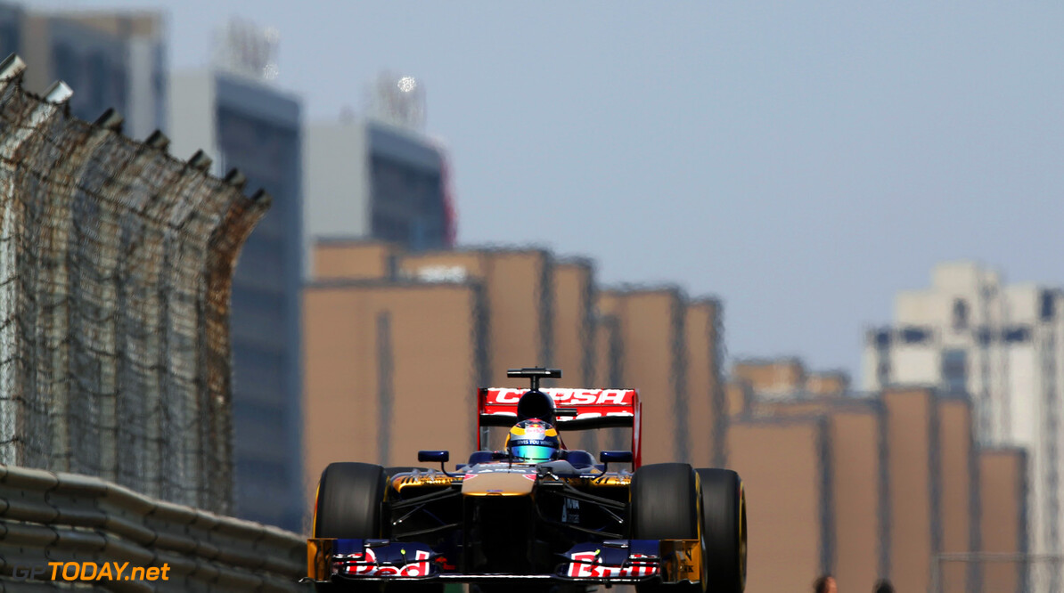 163375755KR00140_F1_Grand_P SHANGHAI, CHINA - APRIL 13:  Jean-Eric Vergne of France and Scuderia Toro Rosso drives during qualifying for the Chinese Formula One Grand Prix at the Shanghai International Circuit on April 13, 2013 in Shanghai, China.  (Photo by Mark Thompson/Getty Images) *** Local Caption *** Jean-Eric Vergne F1 Grand Prix of China - Qualifying Mark Thompson Shanghai China  Formula One Racing formula 1 Auto Racing Formula 1 Grand Prix of China Chinese Formula One Grand Prix Formula One Grand Prix