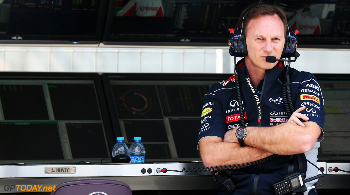 163375735KR00068_F1_Grand_P SHANGHAI, CHINA - APRIL 12:  Infinti Red Bull Racing Team Principal Christian Horner is seen on the pitwall during practice for the Chinese Formula One Grand Prix at the Shanghai International Circuit on April 12, 2013 in Shanghai, China.  (Photo by Mark Thompson/Getty Images) *** Local Caption *** Christian Horner F1 Grand Prix of China - Practice Mark Thompson Shanghai China  Formula One Racing formula 1 Auto Racing Formula 1 Grand Prix of China Chinese Formula One Grand Prix Formula One Grand Prix