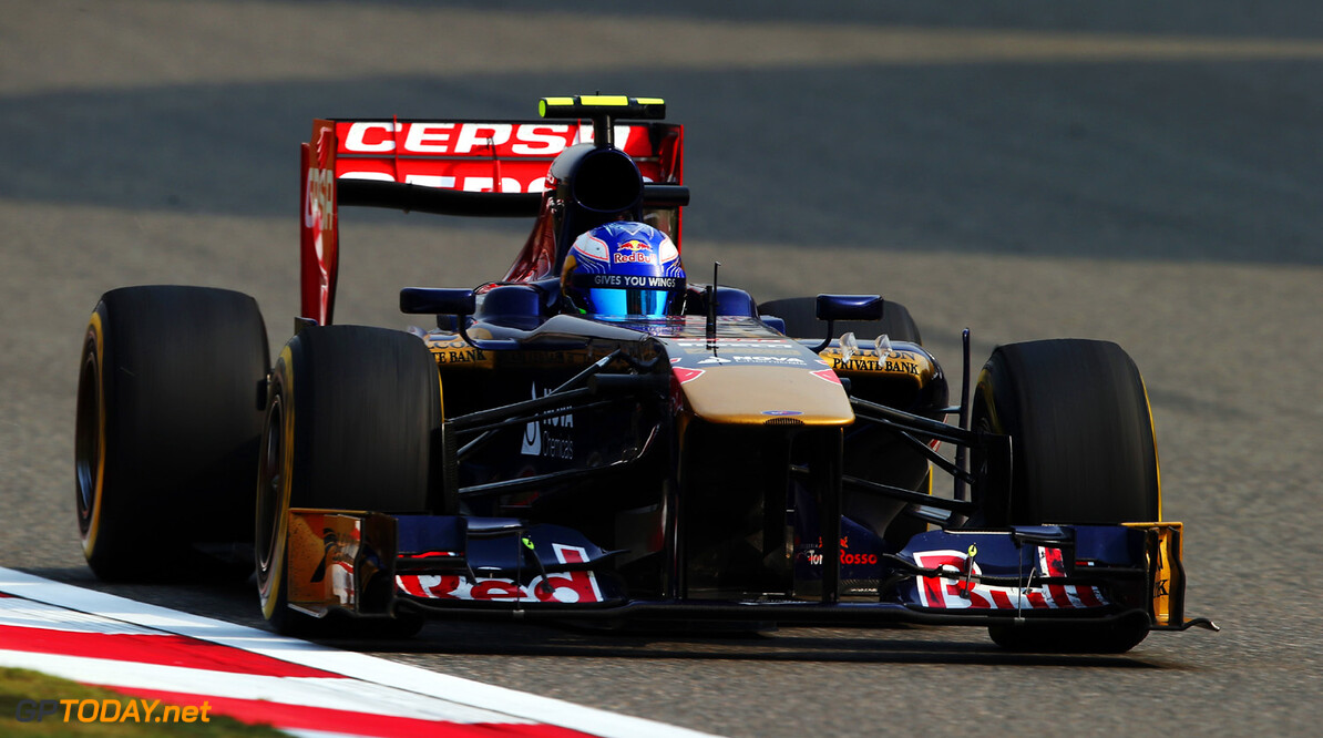 163375735KR00305_F1_Grand_P SHANGHAI, CHINA - APRIL 12:  Daniel Ricciardo of Australia and Scuderia Toro Rosso drives during practice for the Chinese Formula One Grand Prix at the Shanghai International Circuit on April 12, 2013 in Shanghai, China.  (Photo by Mark Thompson/Getty Images) *** Local Caption *** Daniel Ricciardo F1 Grand Prix of China - Practice Mark Thompson Shanghai China  Formula One Racing formula 1 Auto Racing Formula 1 Grand Prix of China Chinese Formula One Grand Prix Formula One Grand Prix