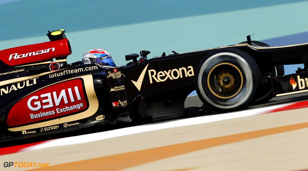 2013 Bahrain Grand Prix - Friday Bahrain International Circuit, Sakhir, Bahrain Friday 19th April 2013 Romain Grosjean, Lotus E21 Renault.  World Copyright: Andrew Ferraro/LAT Photographic ref: Digital Image _Q0C9813      formula 1 formula one f1 gp apr bic bah