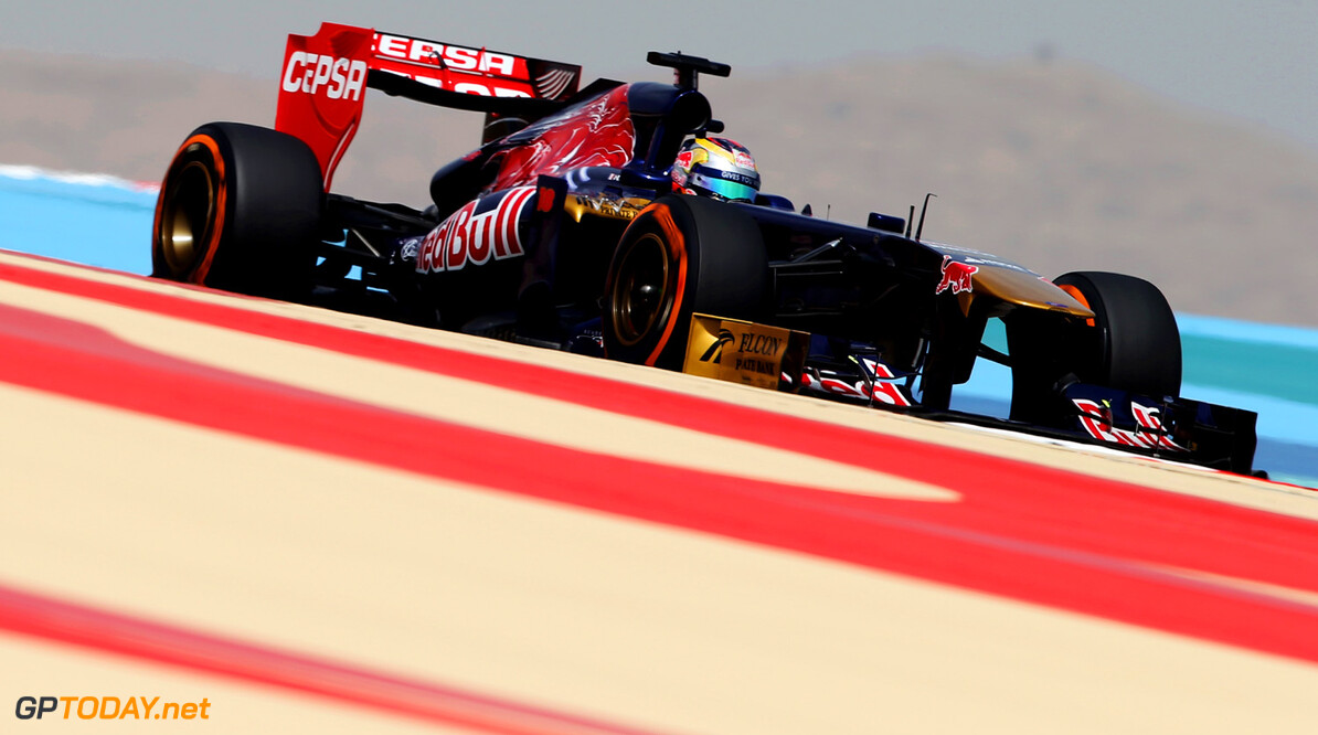 163377116KR00250_F1_Grand_P SAKHIR, BAHRAIN - APRIL 19:  Jean-Eric Vergne of France and Scuderia Toro Rosso drives during practice for the Bahrain Formula One Grand Prix at the Bahrain International Circuit on April 19, 2013 in Sakhir, Bahrain.  (Photo by Mark Thompson/Getty Images) *** Local Caption *** Jean-Eric Vergne F1 Grand Prix of Bahrain - Practice Mark Thompson Sakhir Bahrain  formula 1 Formula One Racing Auto Racing Formula 1 Grand Prix of Bahrain Bahrain Formula One Grand Prix Formula One Grand Prix