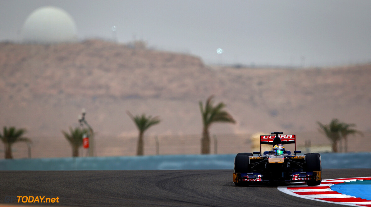 163377126KR00134_F1_Grand_P SAKHIR, BAHRAIN - APRIL 20:  Jean-Eric Vergne of France and Scuderia Toro Rosso drives during qualifying for the Bahrain Formula One Grand Prix at the Bahrain International Circuit on April 20, 2013 in Sakhir, Bahrain.  (Photo by Clive Mason/Getty Images) *** Local Caption *** Jean-Eric Vergne F1 Grand Prix of Bahrain - Qualifying Clive Mason Sakhir Bahrain  formula 1 Formula One Racing Auto Racing Formula 1 Grand Prix of Bahrain Bahrain Formula One Grand Prix Formula One Grand Prix
